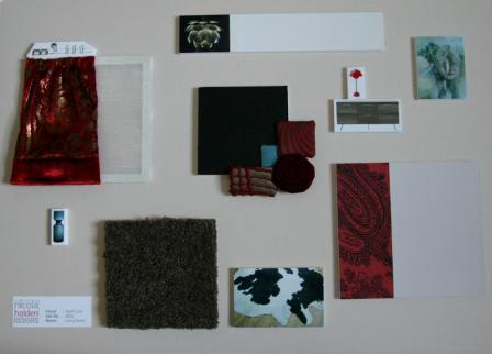 Red Sample Board