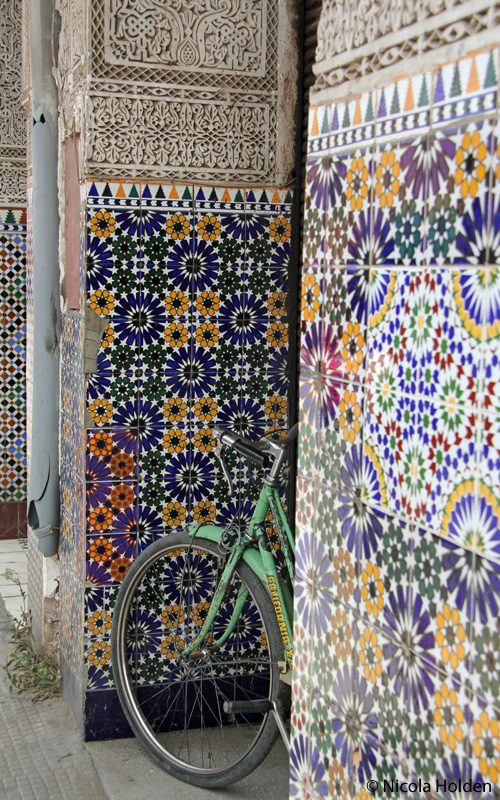 Tiles and bicycle