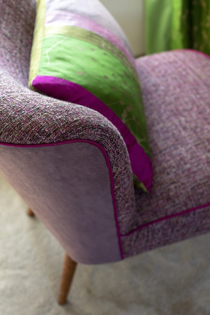 A pink chair