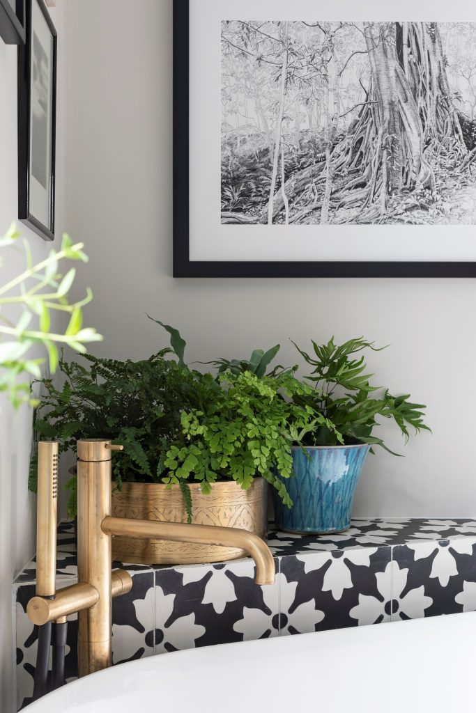 Art and plants help to create a homely atmosphere